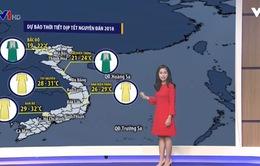 Dự báo thời tiết Tết Nguyên đán 2018: Miền Bắc mưa lạnh