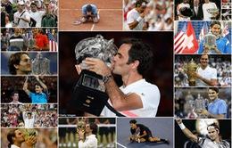 Ấn tượng: Nhìn lại 20 chức vô địch Grand Slam của Federer qua ảnh