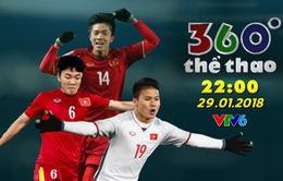 """Bản tin """"360 độ Thể thao"""" đặc biệt về U23 Việt Nam với các vị khách mời Xuân Trường, Quang Hải, Phan Văn Đức (22h00, 29/1 trên VTV6)"""