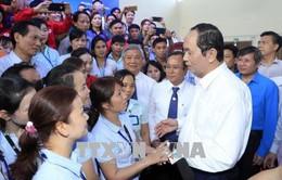 Chủ tịch nước thăm, chúc Tết công nhân, người lao động tại tỉnh Bình Dương