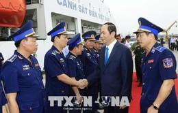 Chủ tịch nước thăm, chúc Tết cán bộ, chiến sĩ Cảnh sát biển