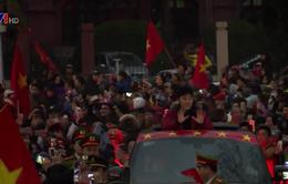 Các tuyển thủ U23 Việt Nam được chào đón nồng nhiệt tại quê hương