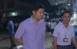 Tổ công tác của UBND quận Ba Đình kiểm tra hoạt động chợ Long Biên