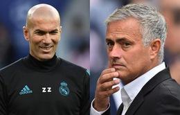 """Mourinho lo sốt vó khi Zidane gọi điện về """"ghế nóng"""" ở Man Utd"""