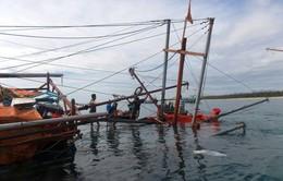Tàu câu mực có 44 ngư dân bị chìm giữa biển