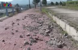 Bờ kè chống sạt lở sông Đắk Bla bị phá hoại