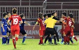Án phạt sau vụ xô xát trận CLB TP HCM I - Than KSVN: 6 cầu thủ bị phạt nặng