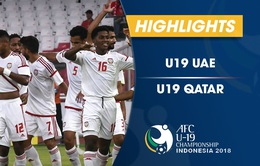 VIDEO: Tổng hợp diễn biến U19 UAE 2-1 U19 Qatar (Bảng A VCK U19 châu Á 2018)