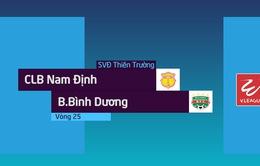 VIDEO: Tổng hợp diễn biến CLB Nam Định 2-1 B. Bình Dương (Vòng 25 V.League 2018)