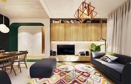 Tạo điểm nhấn ấn tượng cho ngôi nhà với màu xanh lá cây