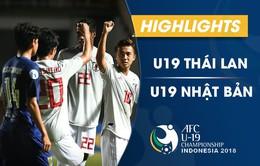 VIDEO: Tổng hợp trận đấu U19 Thái Lan 1-3 U19 Nhật Bản (Bảng B VCK U19 châu Á 2018)