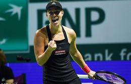 WTA Finals 2018: Angelique Kerber có chiến thắng đầu tiên