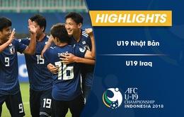 VIDEO: Tổng hợp diễn biến U19 Nhật Bản 5-0 U19 Iraq (Bảng B VCK U19 châu Á 2018)