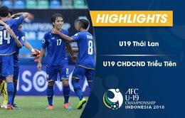 VIDEO: Tổng hợp diễn biến U19 Thái Lan 2-1 U19 CHDCND Triều Tiên (bảng B VCK U19 châu Á 2018)