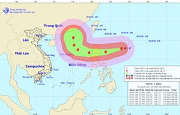 Bão Yutu giật trên cấp 17 cách đảo Luzon khoảng 600km