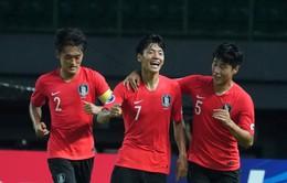 Kết quả VCK U19 châu Á 2018: Thắng tối thiểu U19 Tajikistan, U19 Hàn Quốc giành quyền vào bán kết và dự World Cup U20