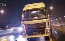 TP.HCM: Tai nạn liên hoàn trên cầu Phú Mỹ, giao thông ùn tắc