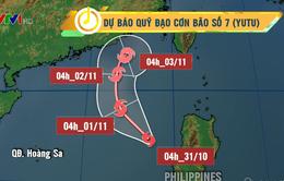 Bão Yutu tiếp tục gây thời tiết xấu ở vùng Đông Bắc Biển Đông