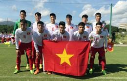 U17 Việt Nam thắng đậm U17 Campuchia ở lượt trận thứ 2 Giải U17 Jenesys 2018