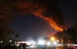 Cháy kho lưu trữ dầu tại Hàn Quốc