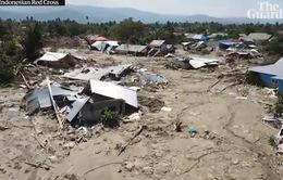 Thảm họa 'đất hóa lỏng' xóa sổ ngôi làng Indonesia nhìn từ vệ tinh