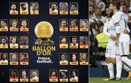 France Football công bố đầy đủ danh sách 30 ứng viên tranh QBV 2018