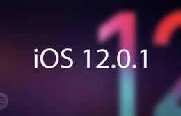 Apple phát hành iOS 12.0.1 sửa hàng loạt lỗi trên iPhone, iPad