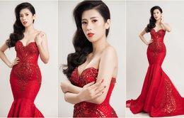 Á khôi Dương Yến Nhung diện đầm đỏ khoe vẻ gợi cảm trong bộ ảnh mới