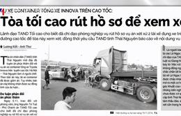 Bản án nào cho vụ xe container đâm Innova lùi trên cao tốc?