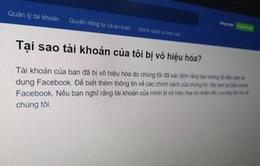Tại sao hàng loạt sao Việt bị khóa tài khoản Facebook?