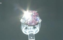 Viên kim cương hồng quý hiếm được bán với giá kỷ lục