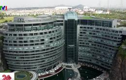 Trung Quốc mở cửa khách sạn trong mỏ đá