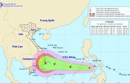 Bão số 9 ngày càng mạnh lên, hướng thẳng vào Nam Trung Bộ