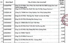 Quảng Bình công khai 78 doanh nghiệp nợ tiền thuế
