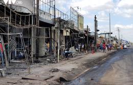 Hiện trường kinh hoàng vụ xe bồn chở xăng cháy khiến 6 người thiệt mạng
