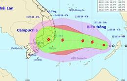 Áp thấp nhiệt đới khả năng mạnh lên thành bão, hướng thẳng vào Nam Trung Bộ