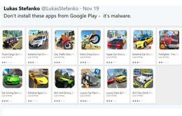 """13 ứng dụng chứa mã độc giả dạng game bị """"khai tử"""" trên Google Play Store"""