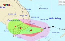 Dự báo đêm mai (24/11), bão số 9 sẽ đổ bộ vào đất liền Nam Trung Bộ