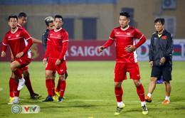 ẢNH: ĐT Việt Nam tập kín chuẩn bị cho trận gặp ĐT Campuchia
