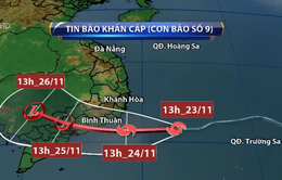 Dự báo hôm nay (24/11) bão số 9 sẽ đổ bộ vào đất liền