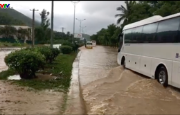 Mưa lớn phía nam Khánh Hoà, nhiều tuyến đường tê liệt