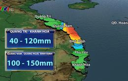 Đêm 26/11, các tỉnh từ Quảng Trị đến Khánh Hòa mưa lớn, cảnh báo lũ lên cao