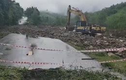 Sạt lở nghiêm trọng tại tỉnh lộ 9 Khánh Hòa