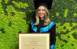 Tay vợt Simona Halep trở thành... tiến sĩ