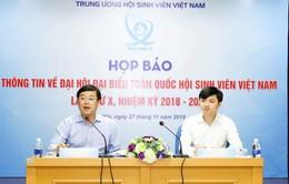 Gần 700 đại biểu tham dự Đại hội đại biểu toàn quốc Hội Sinh viên Việt Nam