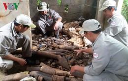 Phát hiện gần 1.000 đầu đạn bom các loại tại căn nhà hoang