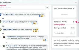 Facebook sắp ra mắt tính năng mới có thể chặn cụm từ bị cấm
