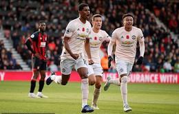 Rashford tỏa sáng phút bù giờ, Man Utd thắng kịch tính trên sân Bournemouth