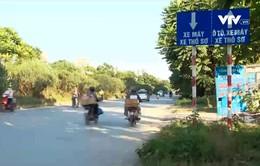Mất an toàn trên tuyến đường gom đại lộ Thăng Long