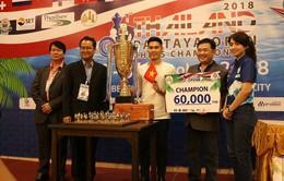 Kỳ thủ Trần Tuấn Minh vô địch giải cờ vua Pattaya